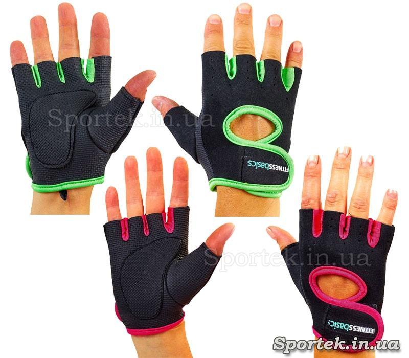 Неопреновые перчатки без пальцев FITNESS BASICS BC-893