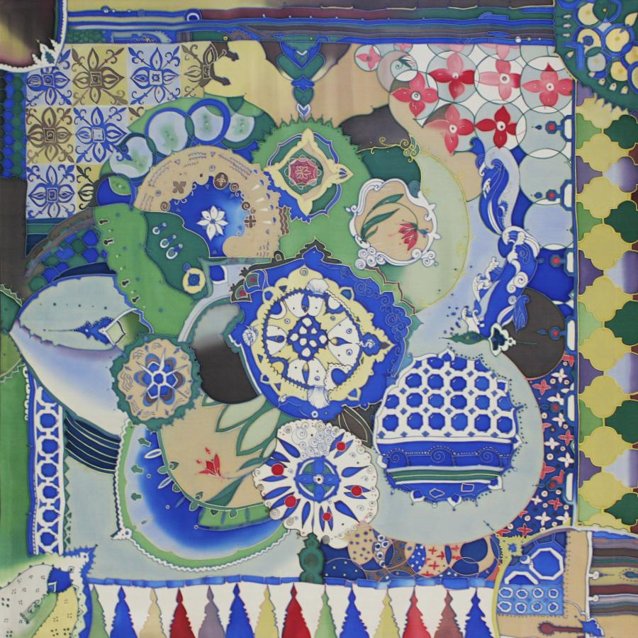 Платок батик Марокканская глазурь С-61