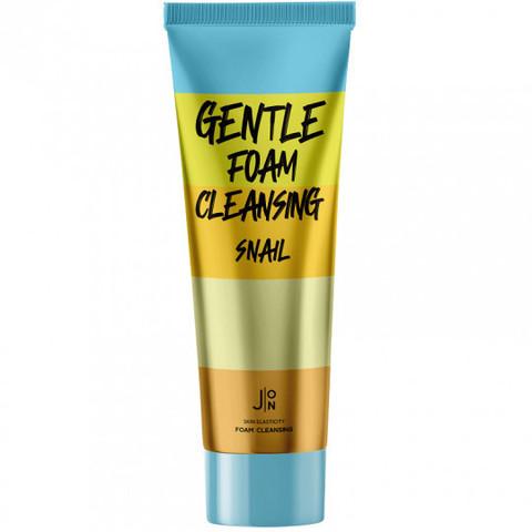 J:ON Gentle Foam Cleansing Snail нежная пенка для умывания с муцином улитки