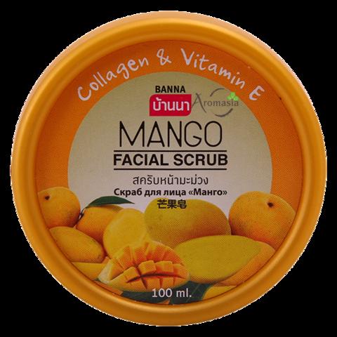 Крем-скраб для лица Banna с экстрктом манго с коллагеном и витамином Е 100 мл