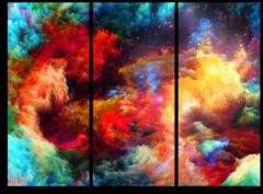 """Модульная картина """"Абстракция цветов"""""""