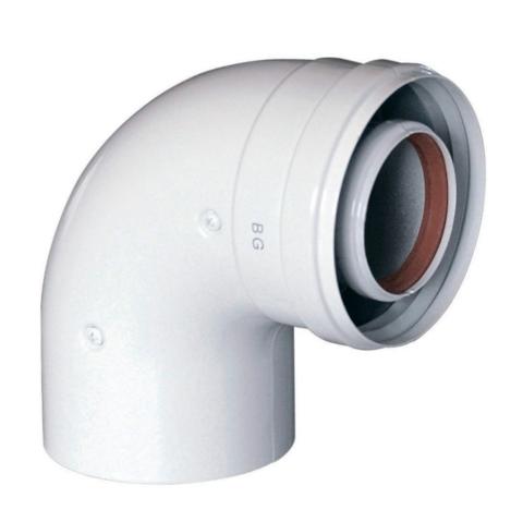 Baxi коаксиальный отвод 90°, DN Ø 110/160 мм для Duo-tec MP 90-110 кВт (KUG 71413361)