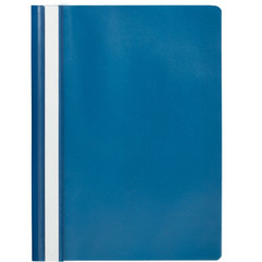Скоросшиватель пластиковый Attache Economy A4 до 100 листов синий (толщина обложки 0.11 мм, 10 штук в упаковке)