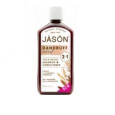 Jason Терапевтическая линия для волос: 2в1 лечебный Шампунь + Кондиционер двойного действия для волос от перхоти (Dandruff Relief Shampoo + Conditioner), 355мл