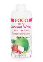FOCO, Кокосовая вода с соком личи, 330мл