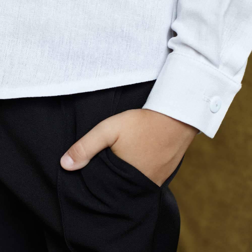 Детские брюки для мальчика в черном цвете