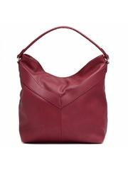 Бордовая сумка из комбинированой кожи