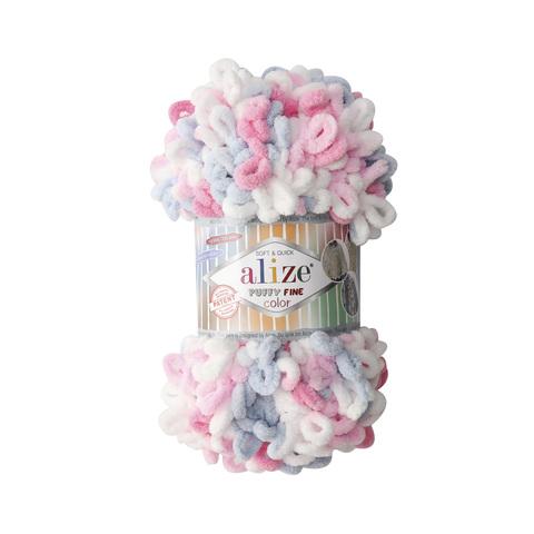 Купить Пряжа Ализе Пуффи Файн Колор Код цвета 5945 | Интернет-магазин пряжи «Пряха»