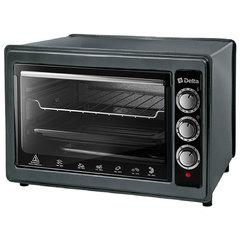 Мини печь | Духовка электрическая 1300 Вт 37 л DELTA D-0124 с грилем, черная