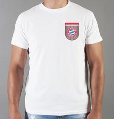 Футболка с принтом FC Bayern Munchen (ФК Бавария) белая 004