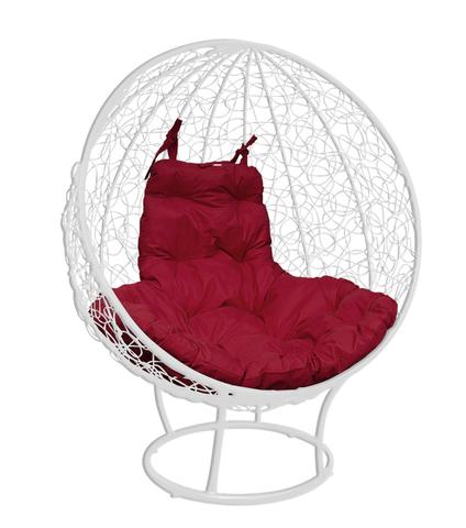 Кресло стоячее Milagro white/burgundy