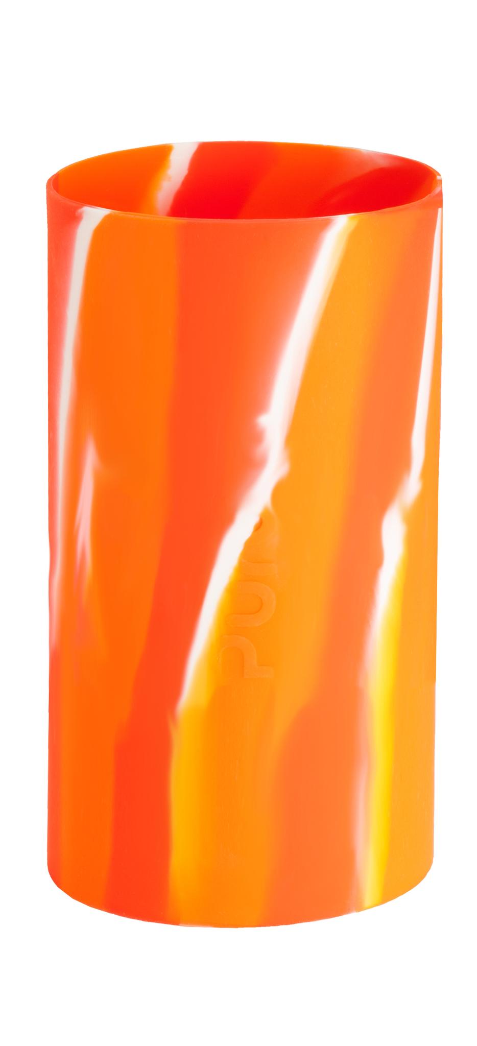 Силиконовый чехол для бутылочки Pura Kiki (оранжевый вихрь)