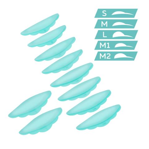 Валики силиконовые ULTRA SOFT (S, M, М1, М2, L) - 5 пар