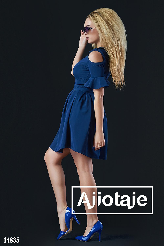 Темно-синее платье с воротничком Питер Пэн