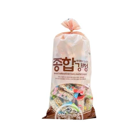 Рисовый крекер Assorted Gangjeong 350г Mammos Корея