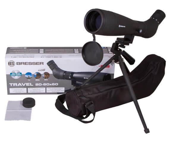 Комплект поставки Bresser Travel 20 60x60: труба, чехол, салфетка, защитные крышки