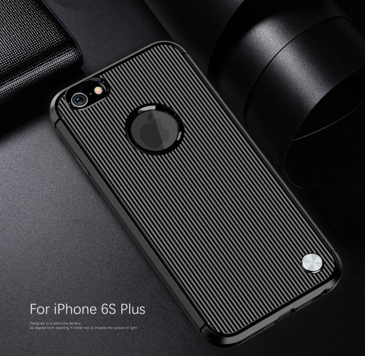 Чехол iPhone 6 Plus (iPhone 6S Plus) цвет Black (черный), серия Bevel, Caseport
