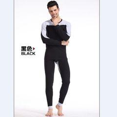 Мужской комплект термобелья черный с серыми вставками Cockcon Black