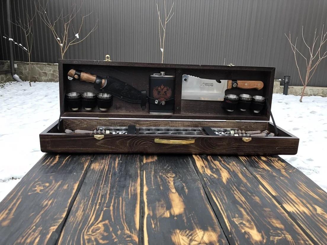 Шампуры в кейсе Набор шампуров в деревянной коробке №2 AZo777hBjPs.jpg