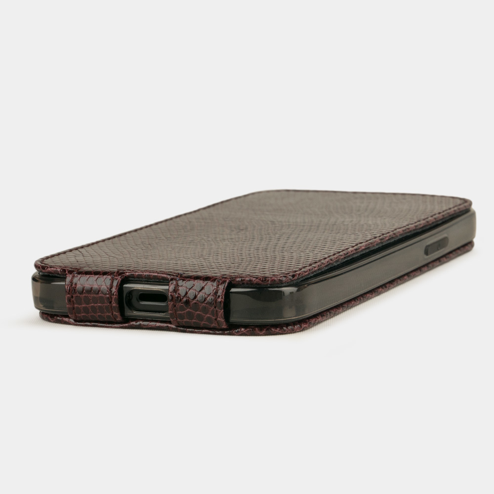 Case for iPhone 12 & 12 Pro - lizard bordeaux