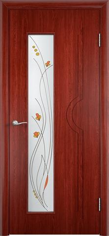 Дверь Модерн (красное дерево, остекленная шпонированная), фабрика Верда