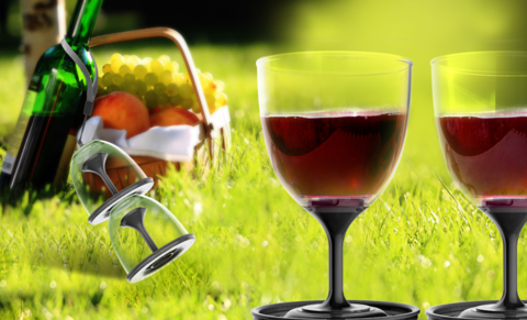 Набор складных бокалов Asobu Stack n' go vino (2 х 0,4 литра), черный