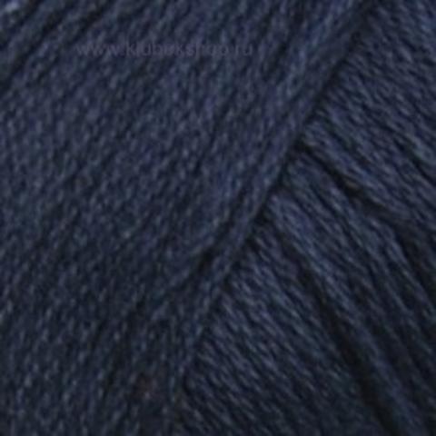 Пряжа Хлопок натуральный (Пехорка) Темно-синий 04