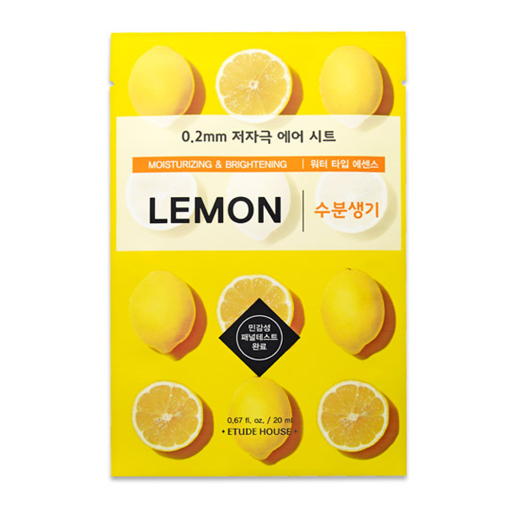 Маска тканевая для лица с экстрактом лимона Etude House Therapy Air Mask Lemon