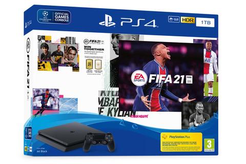 Игровая консоль Sony PlayStation 4 Black Slim 1Tб (CUH-2208B) + диск FIFA 21