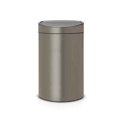 Мусорный бак Touch Bin New (40 л), Платиновый