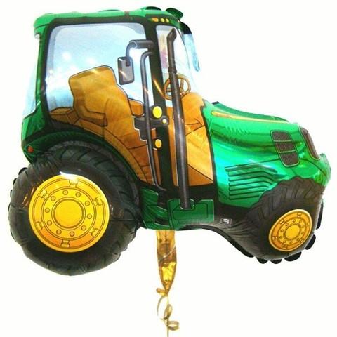 Фольгированный шар Трактор зеленый