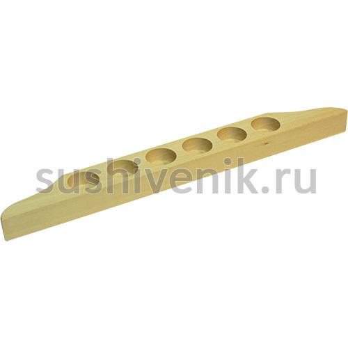 Полочка-подставка для масел (6 отверстий) для сауны