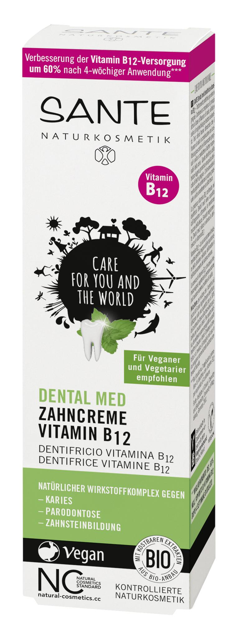 SANTE Зубная паста с витамином В12 и фтором