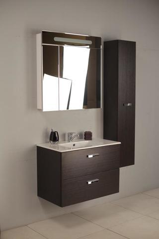 Комплект мебели Roca Victoria Nord 80 см (тумба с раковиной+зеркальный шкаф+пенал)