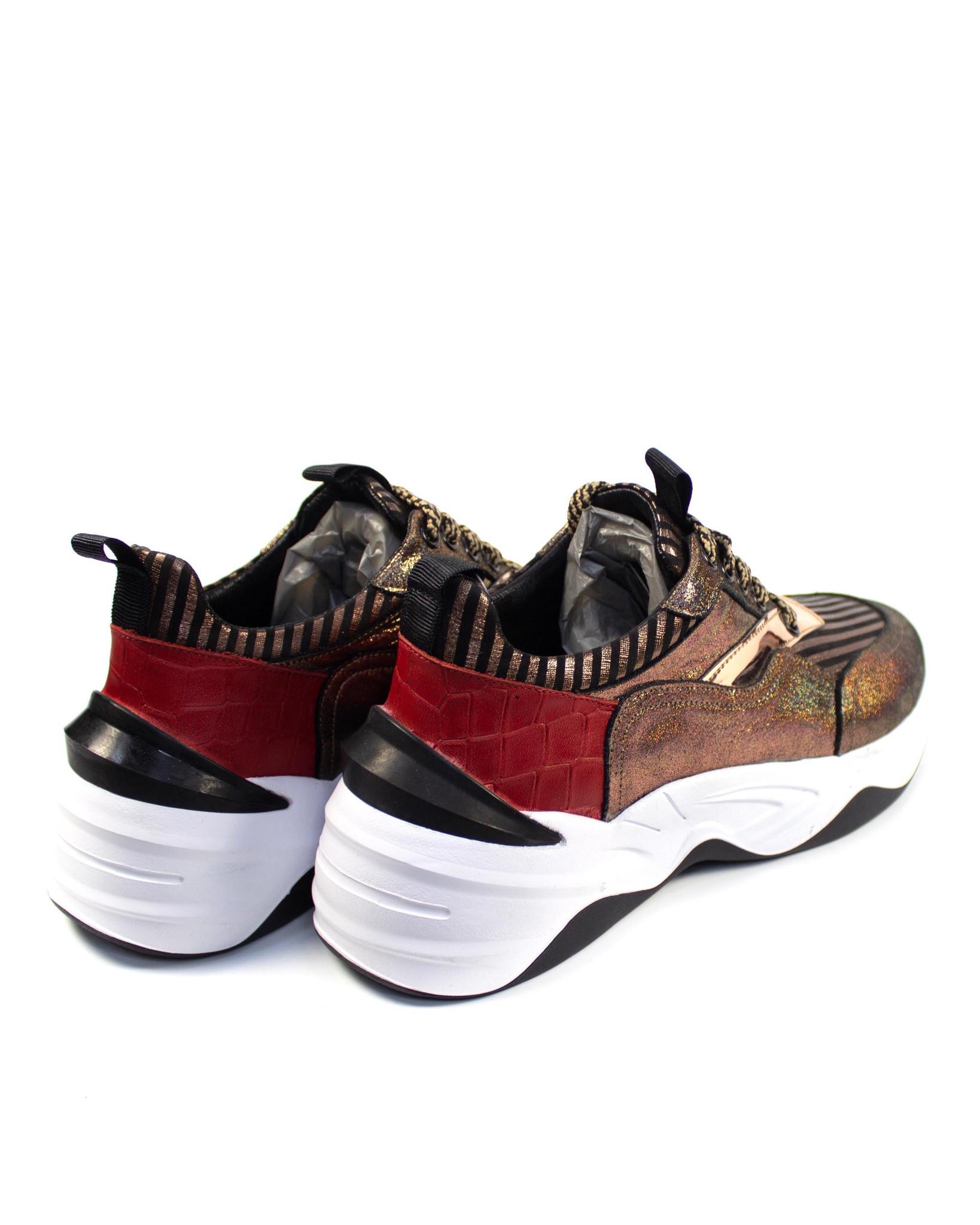 коричневые кроссовки Mario Muzi