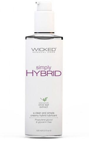 Водно-силиконовый лубрикант Wicked Simply HYBRID - 120 мл.