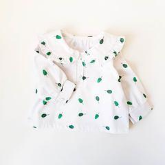 Рубашка с воротничком Листочки