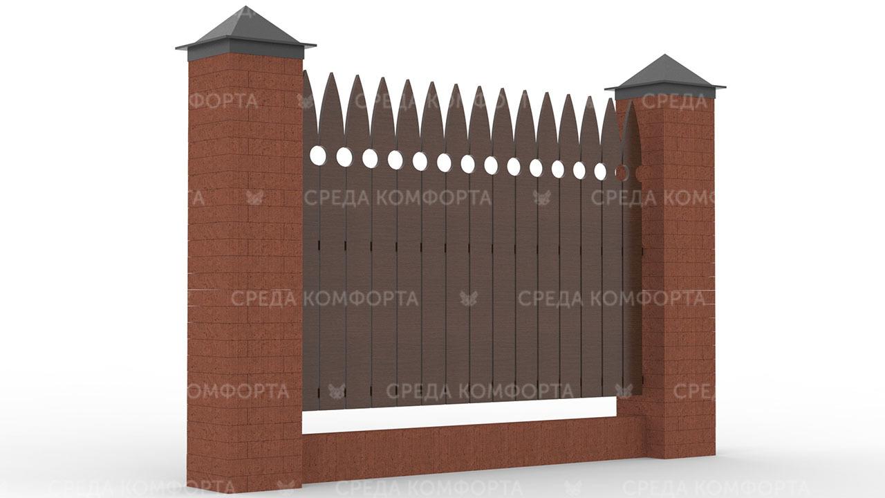 Деревянный забор ZBR0115