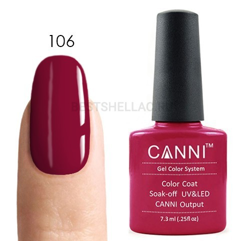 Canni Canni, Гель-лак № 106, 7,3 мл 106.jpg