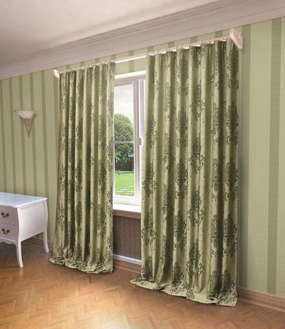 Готовые шторы Стефани зеленый