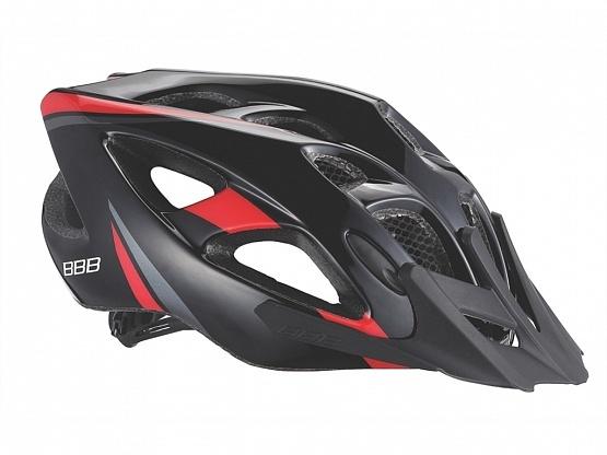 Летний шлем BBB Elbrus with visor matt black/red