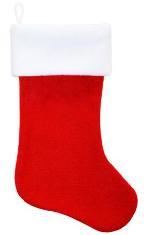 Рождественский носок красный