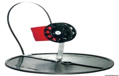 Жерлица на круглом основании с алюминиевой стойкой, д.210мм, кат.75мм