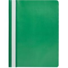 Скоросшиватель пластиковый Attache Economy A4 до 100 листов зеленый (толщина обложки 0.11 мм, 10 штук в упаковке)