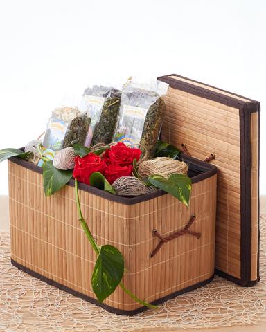 Складной короб для хранения 35*25*23 см с крышкой и ручками