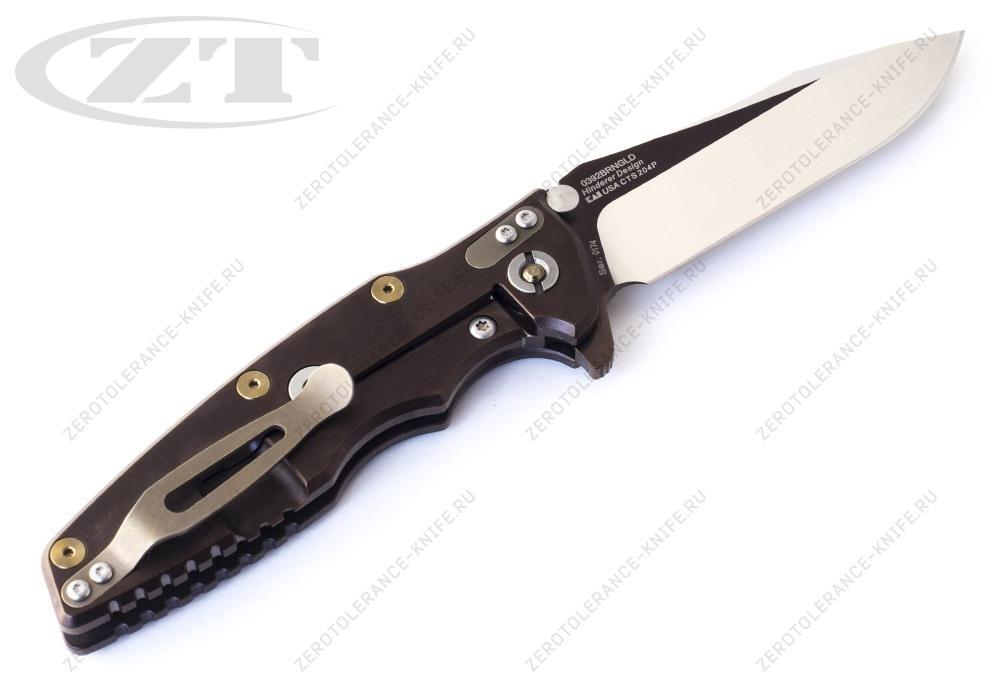 Нож Zero Tolerance 0392BRNGLD Hinderer - фотография