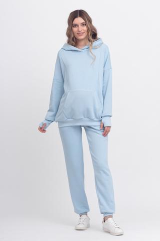 Спортивный костюм для беременных и кормящих 12275 голубой