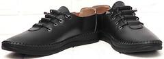 Женские кеды мокасины кожаные smart casual EVA collection 151 Black.