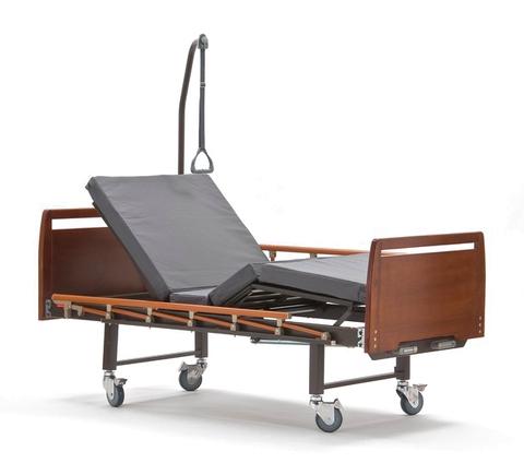 Кровать медицинская функциональная КМФ 943 WOOD WC с туалетом и столиком - фото