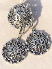 Самарканд (кольцо + серьги из серебра)